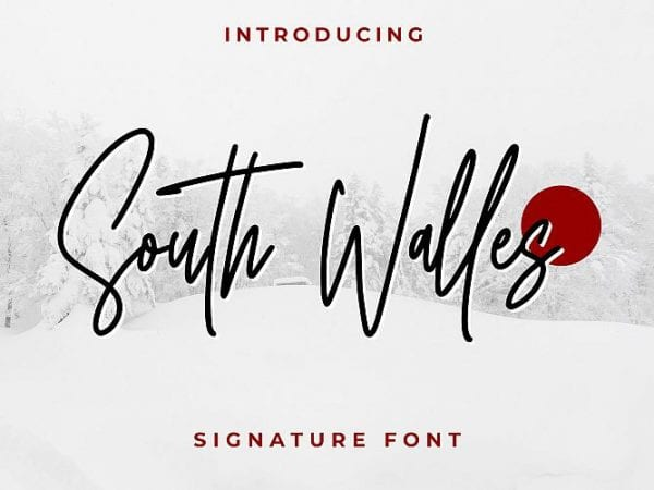south-walles-signature-font