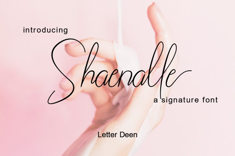 Shaenalle Free Signature Font - Mockup Free Downloads