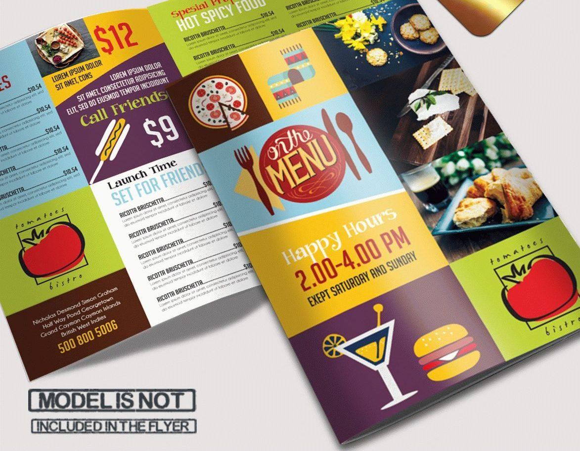 free bi-fold psd brochure template