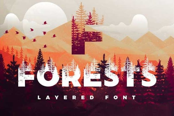 Forests-Layered-Font