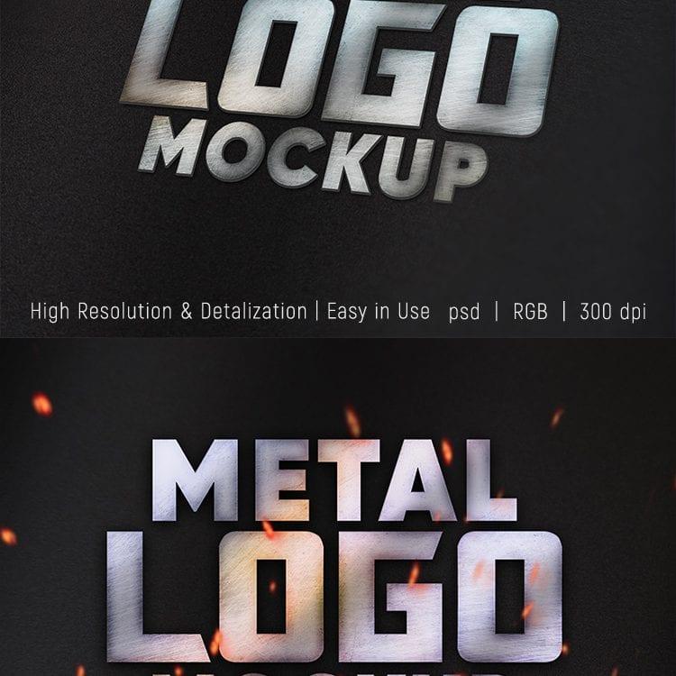 Preview_Free_Metal_Logo_Mockup_Set