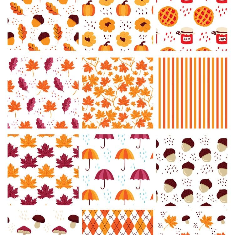 Pv_12_Free_Autumn_Vector_Patterns_Set