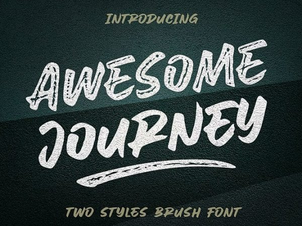 awesome-journey-brush-font