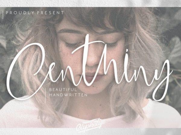 centhiny-handwritten-font