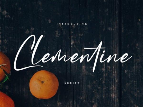 clementine-script-font