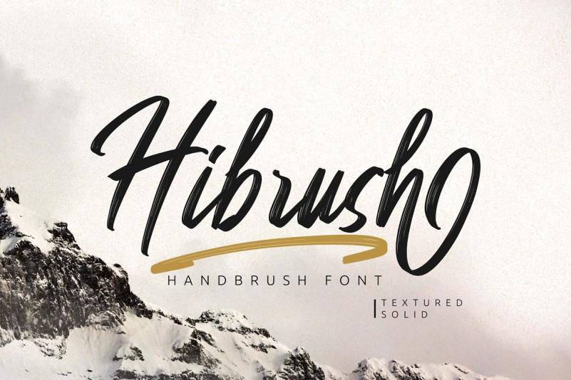 hibrush-brush-font