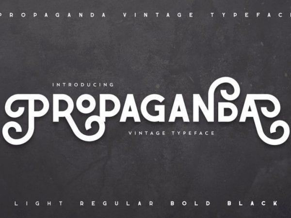 propaganda-vintage-font