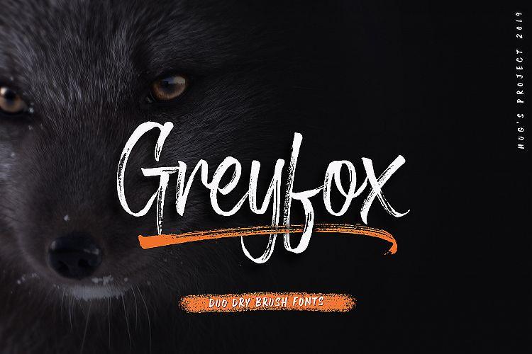 greyfox-brush-font