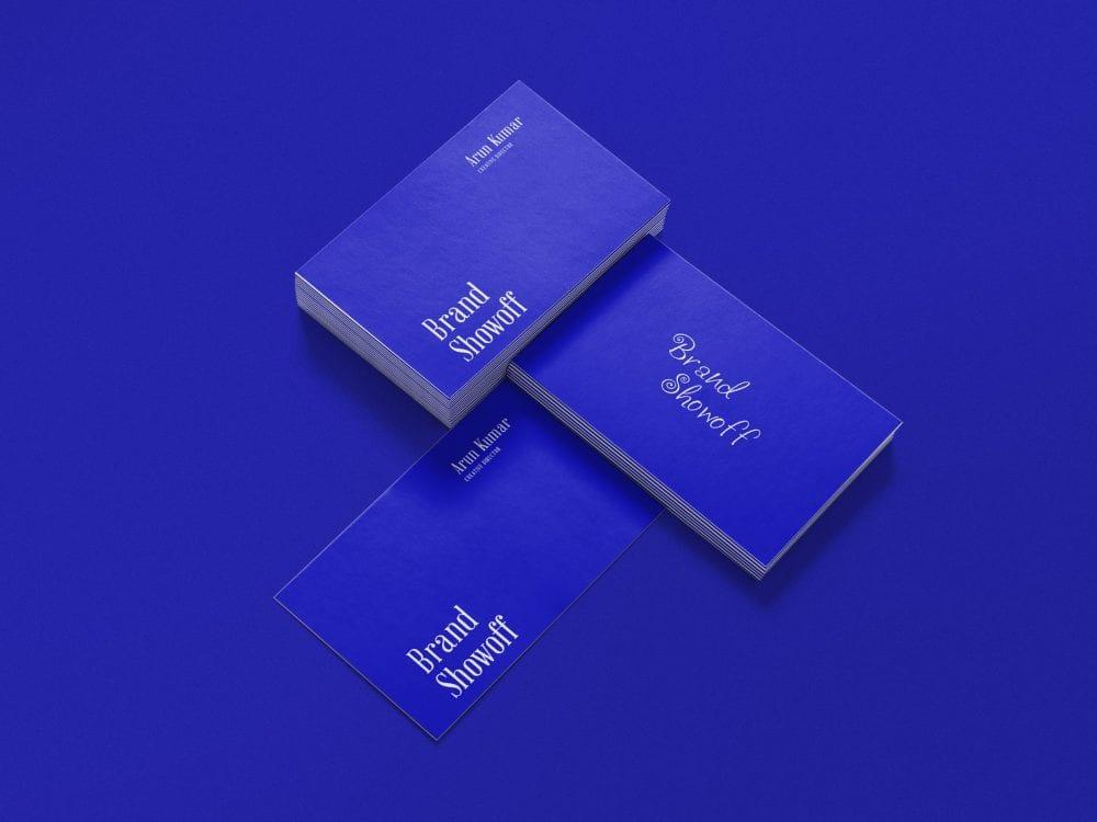 Business Card Presentation Mockup