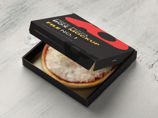 Pizza Box Free Mockup