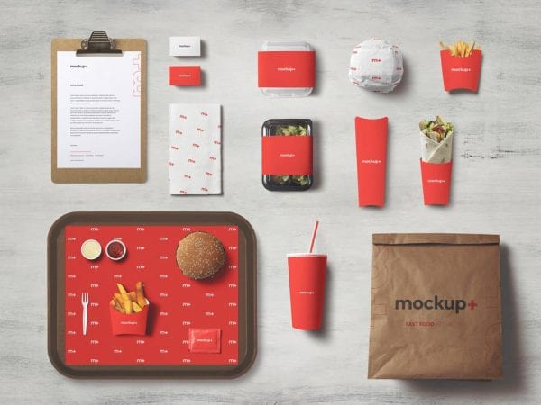 Fast Food Brand Identity Mockup